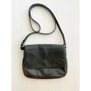 GIUDI Italy Crossbody Shoulder Bag Black Leather